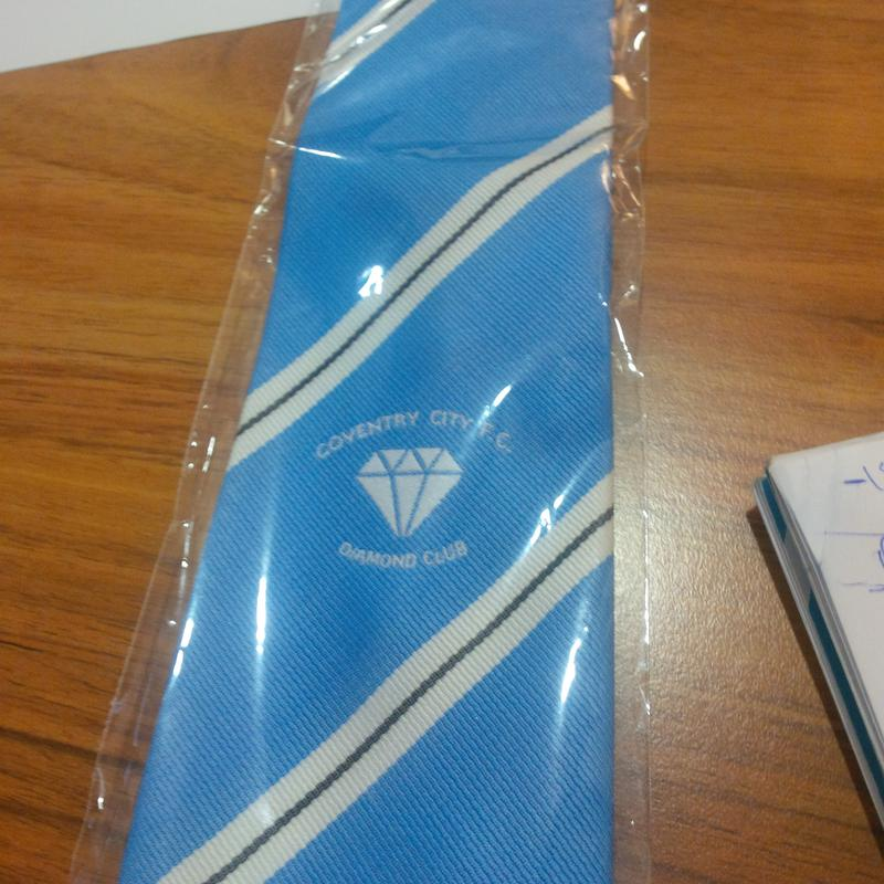 Diamond Club Ties on sale £10, Scarves £20 Both on sale at lunches